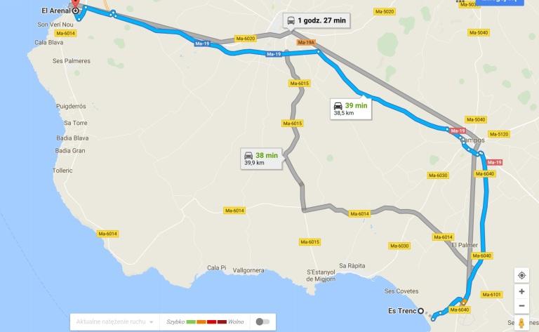 mapa Es Trenc